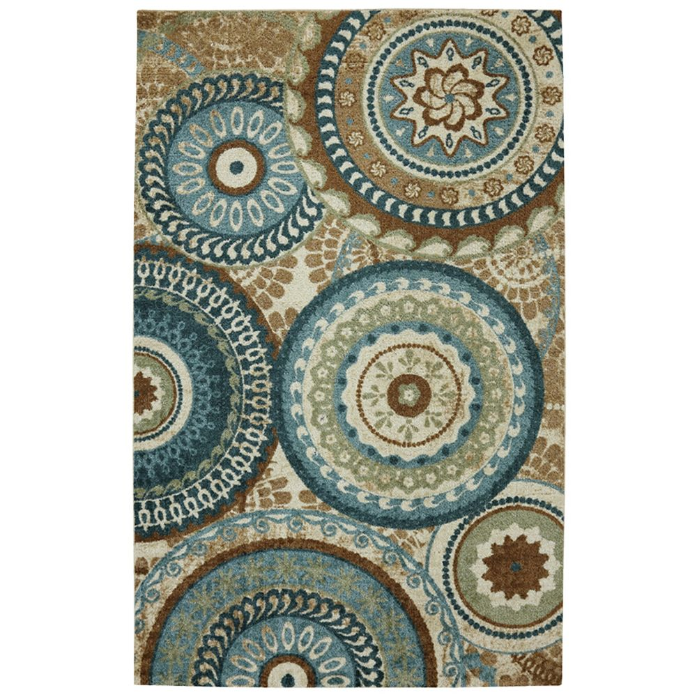 Mohawk Home Suzani Blue 5 Ft. X 8 Ft. Indoor Transitional