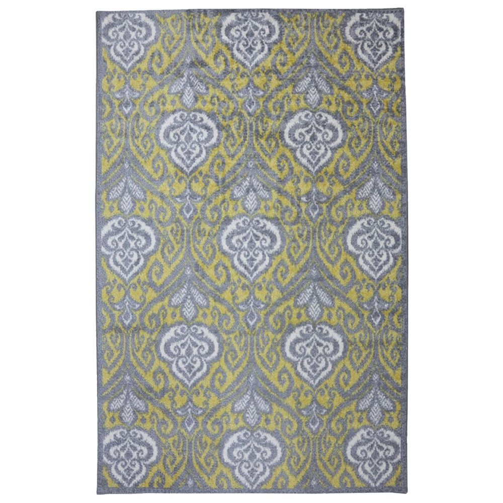 Elegant Ikat Gold Rug 96 In. x 120 In.Area Rug 380168 Canada Discount