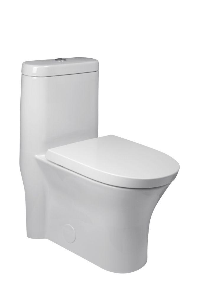 Cosette 4.8 LPF 1-Piece Dual-Flush Elongated Bowl Toilet