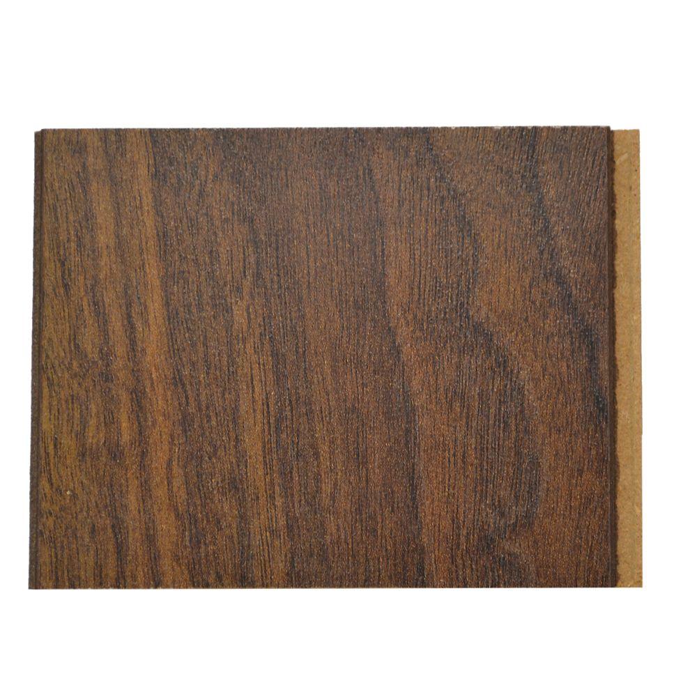 TrafficMASTER 10mm Thick x 4-inch x 4-inch Dark Walnut Laminate Flooring (Sample)