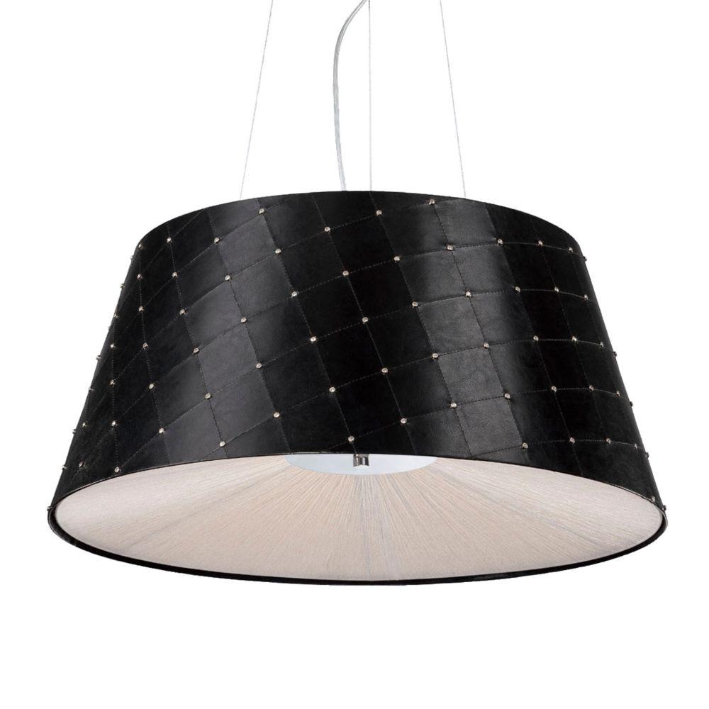 Eurofase Sasso Collection 3 Light Black Pendant