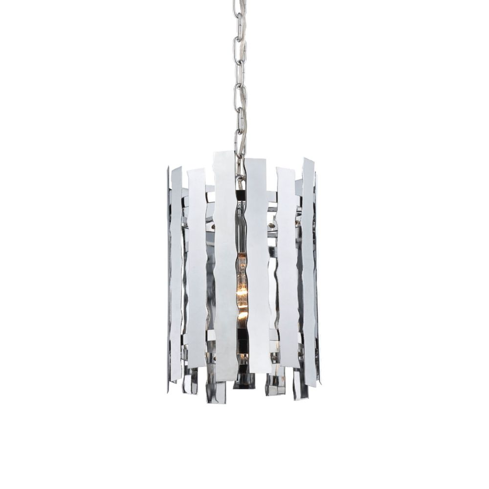 Eurofase Nastro Collection 1 Light Chrome Pendant