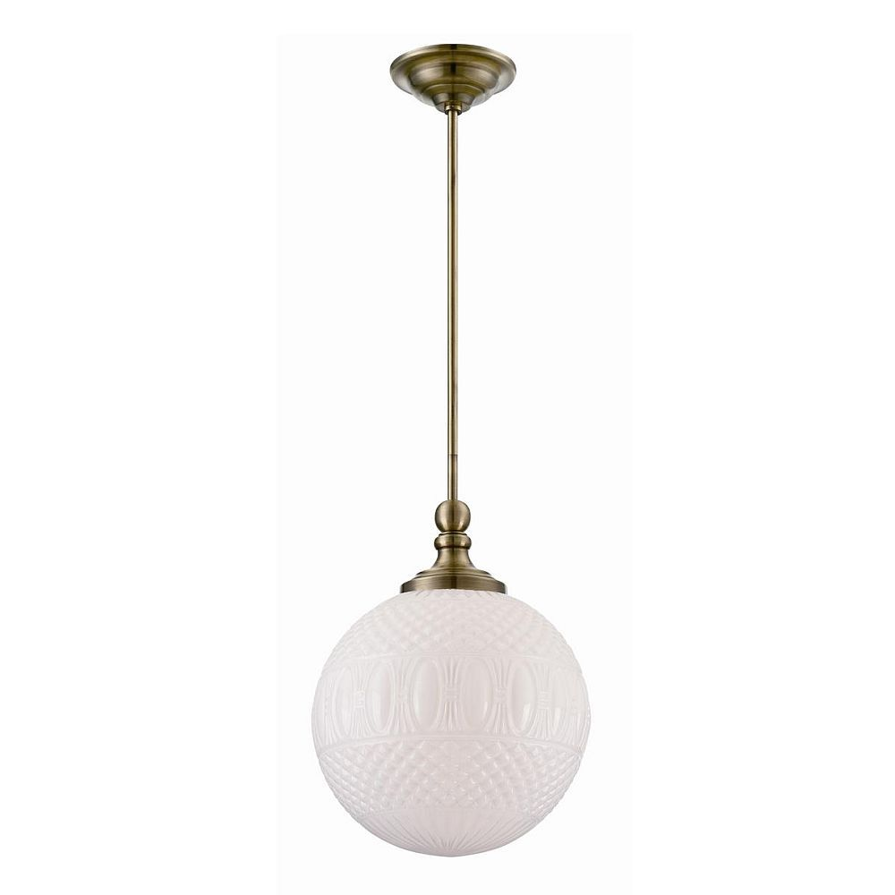 Volto Collection 1 Light Antique Brass Pendant
