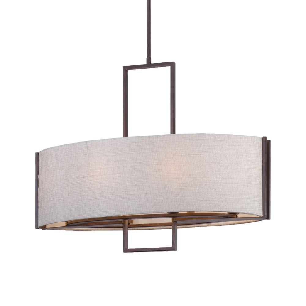 Strada Collection 6 Light Bronze Pendant