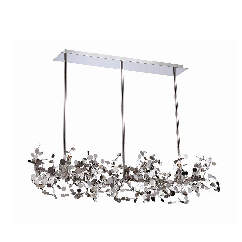 Divo Collection 9 Light Nickel Pendant