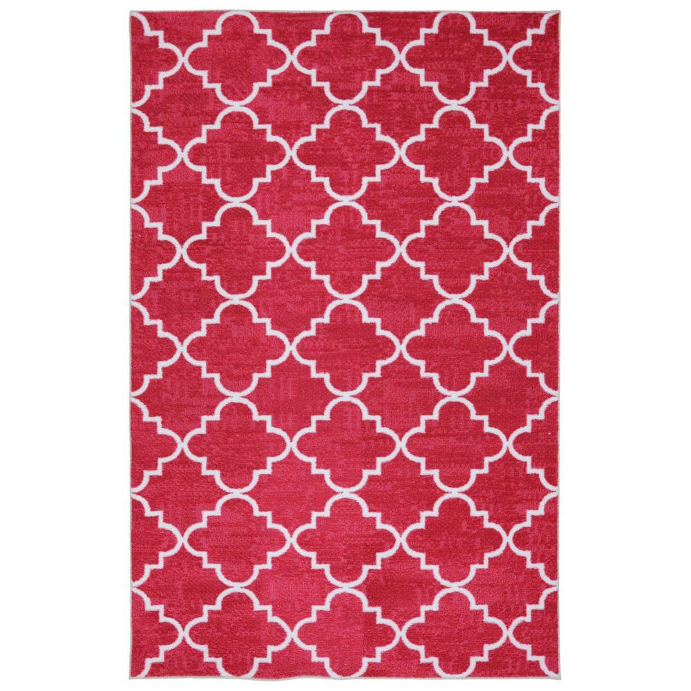 Fancy Trellis Hot Pink 60 Inch x 96 Inch Rug 395834 Canada Discount