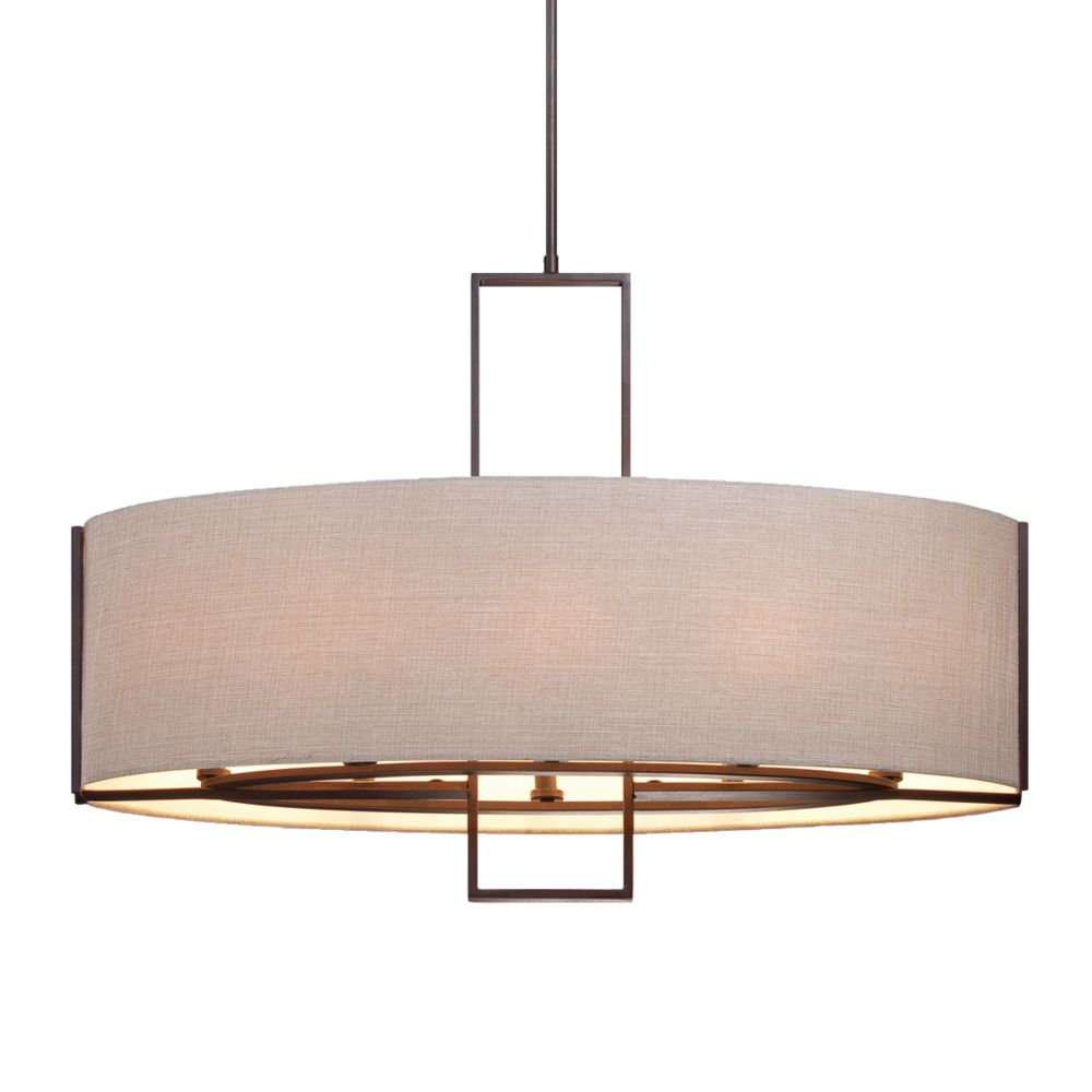 Strada Collection 8 Light Bronze Pendant