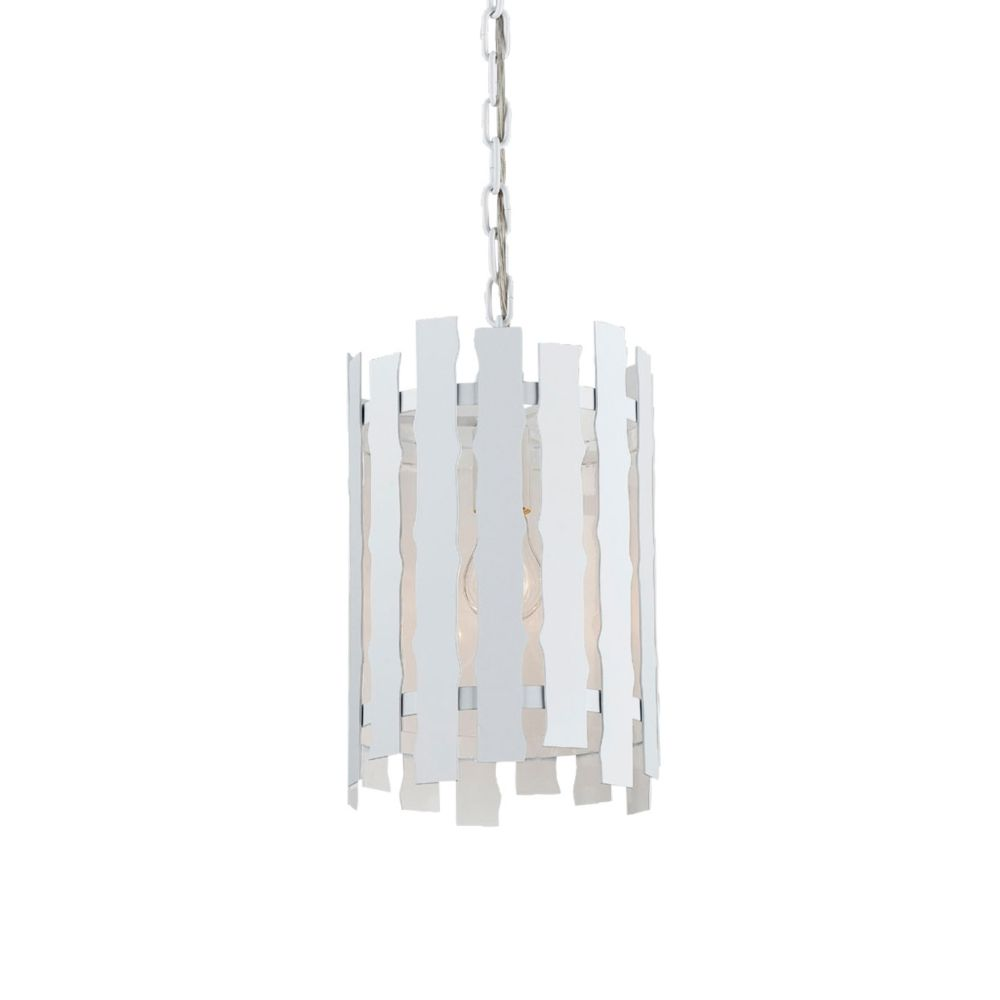 Eurofase Nastro Collection 1 Light White Pendant