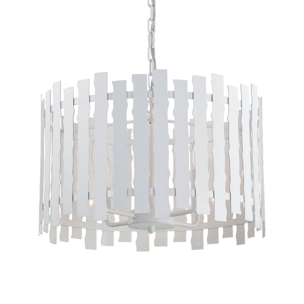 Nastro Collection 4 Light White Pendant