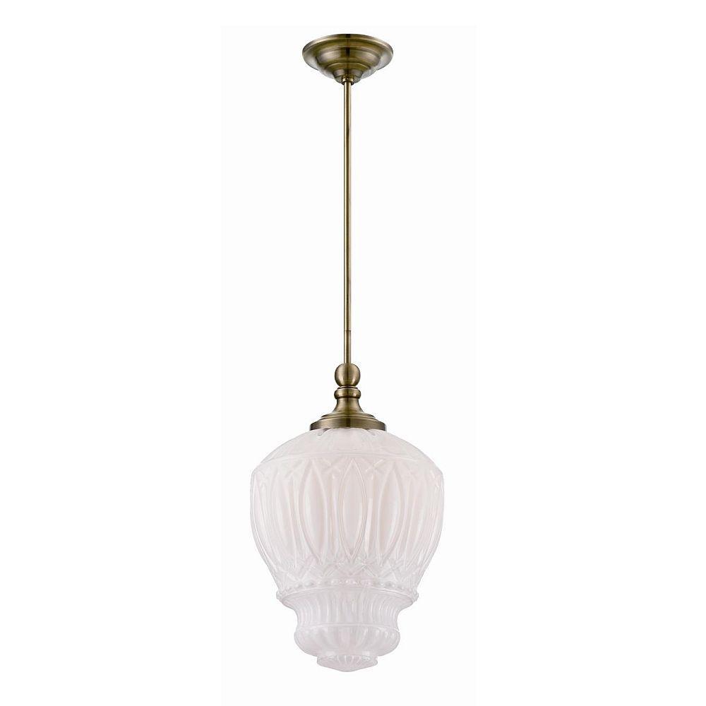Antico Collection 1 Light Antique Brass Pendant