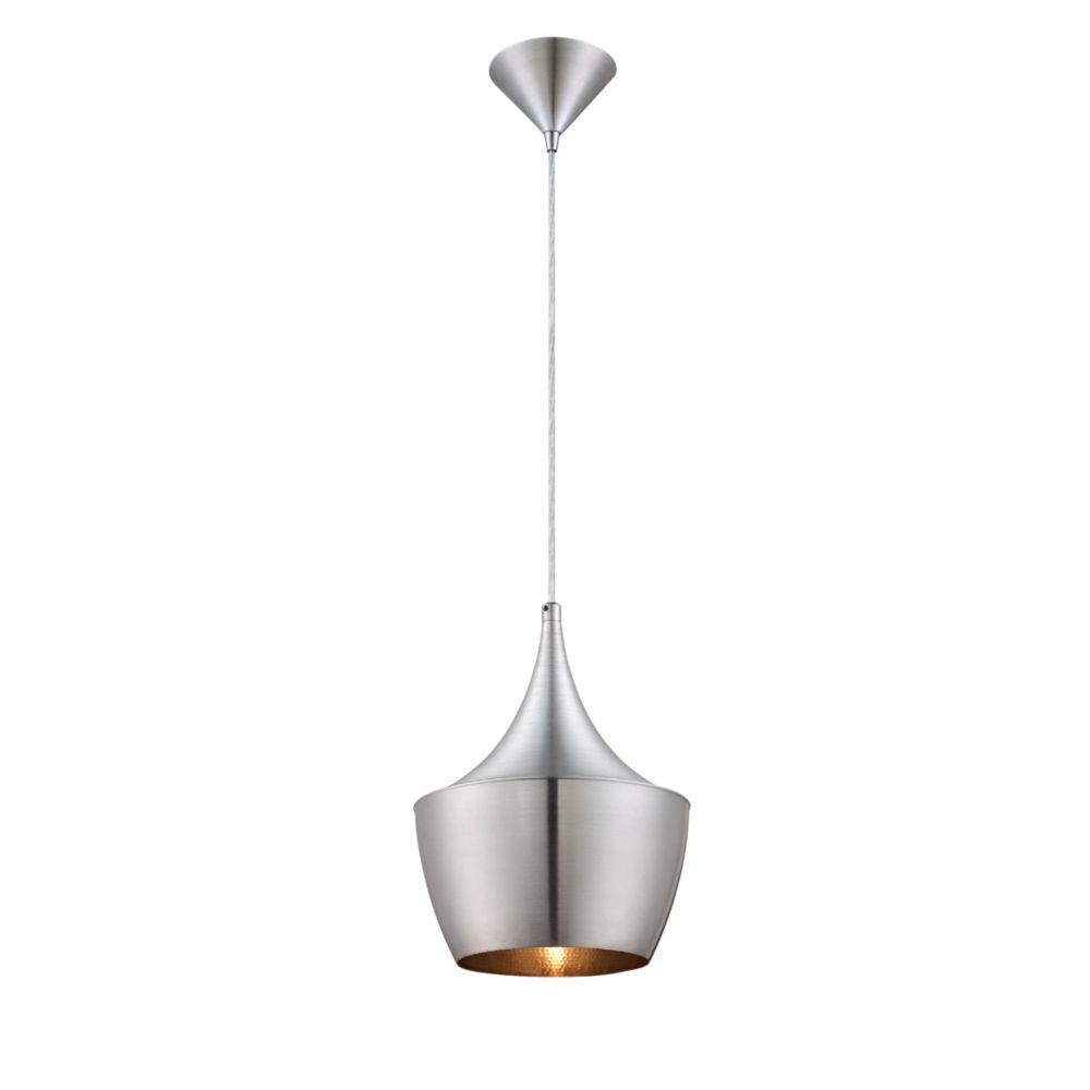 Piquito Collection 1 Light Brushed Aluminum Pendant