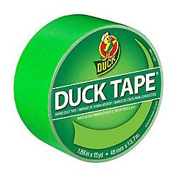 Duck Ruban adhésif de marque Color Duct Tape - Vert néon 4,8cm x 13,7m (1,88po x 15v)