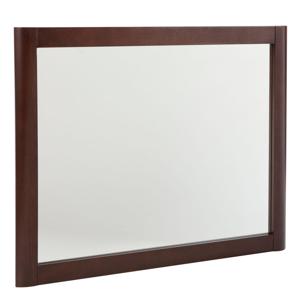 Madeline Wall Mirror with Wood Frame in Chestnut
