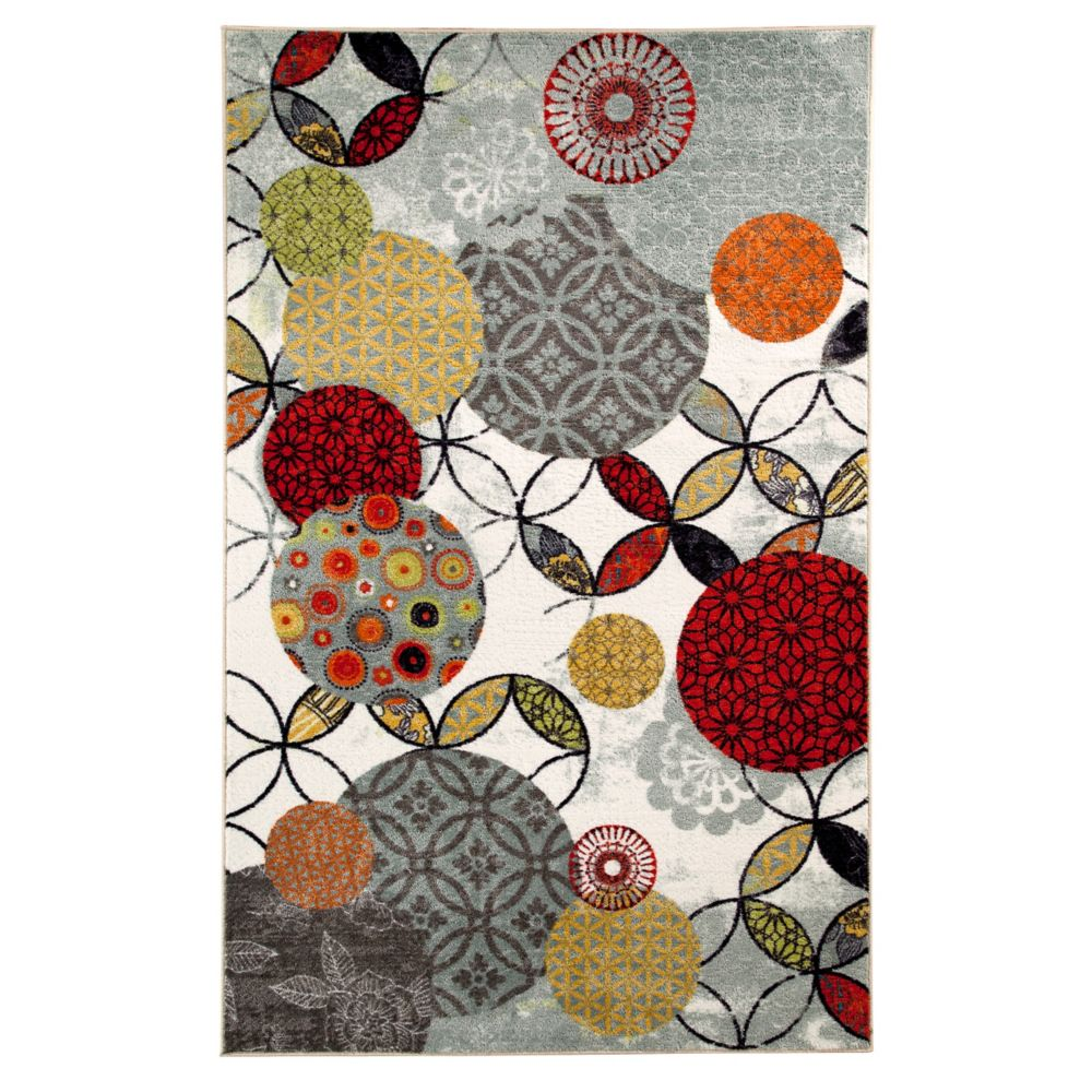 Give and Take Kaleidscope 96 Inch x 120 Inch Rug
