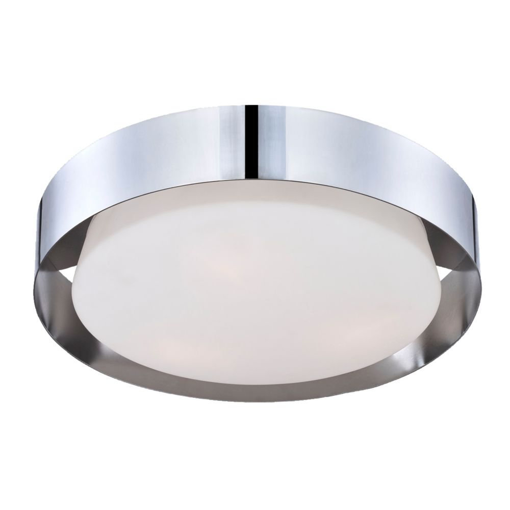 Saturn Collection 3 Light Chrome Flushmount