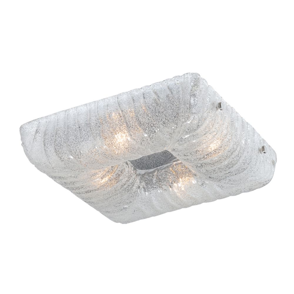 Spectra Collection 4 Light Clear Square Flushmount