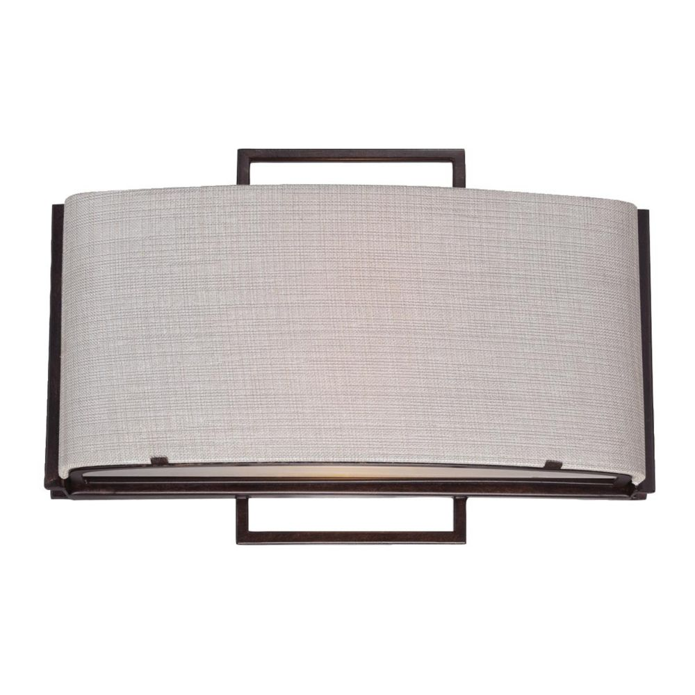 Strada Collection 2 Light Bronze Wall Sconce