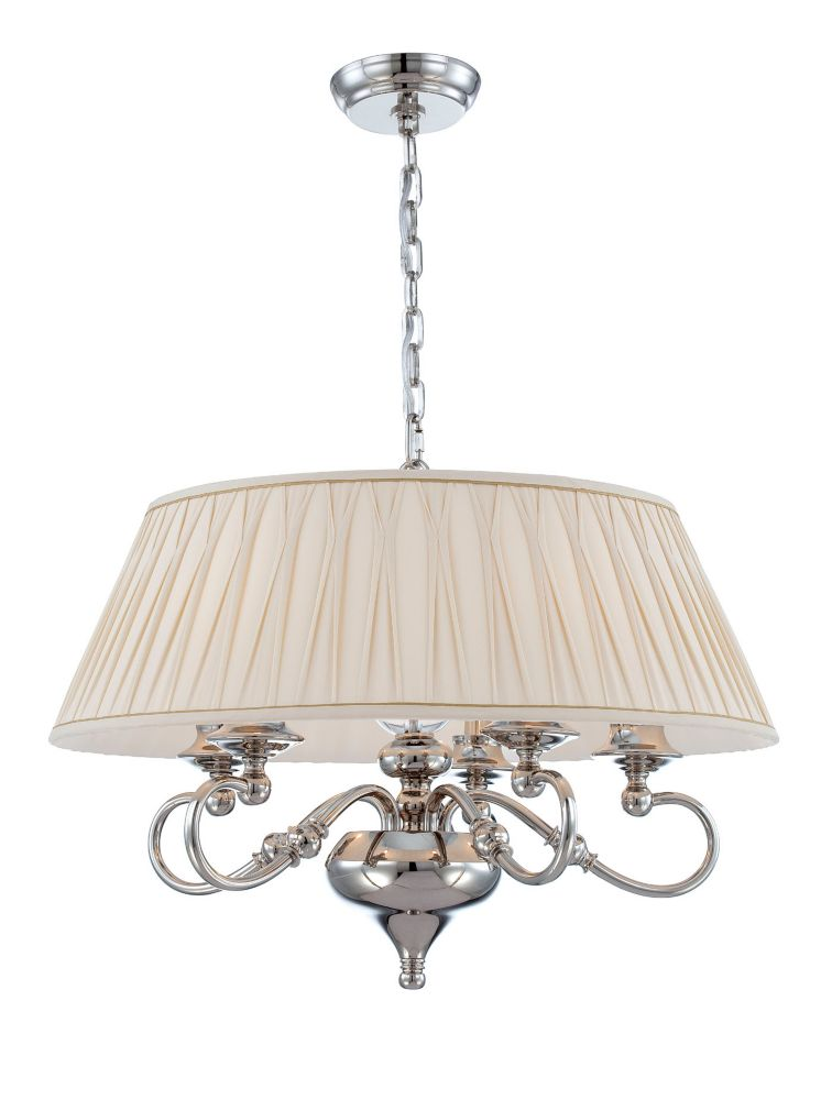 Sophia Collection 5 Light Polished Nickel Pendant