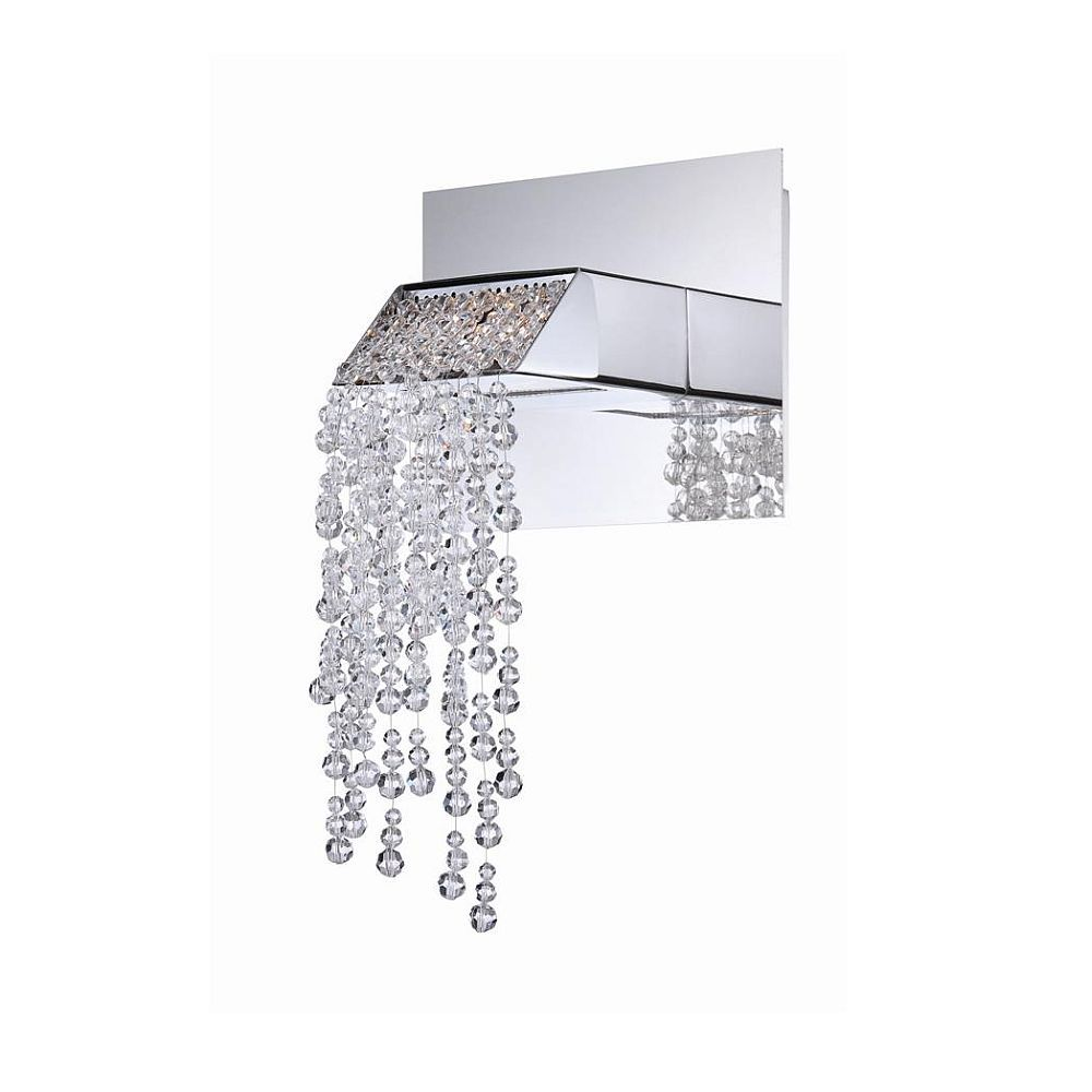 Fonte Collection 1 Light Chrome Wall Sconce