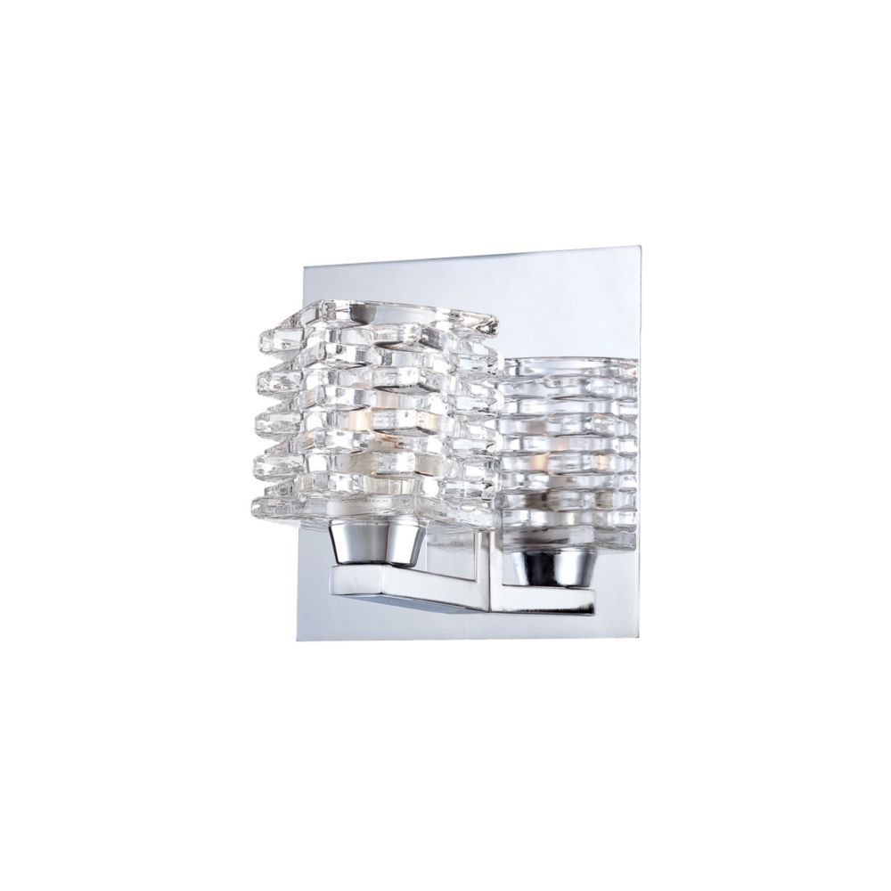 Lenza Collection 1 Light Chrome Wall Sconce