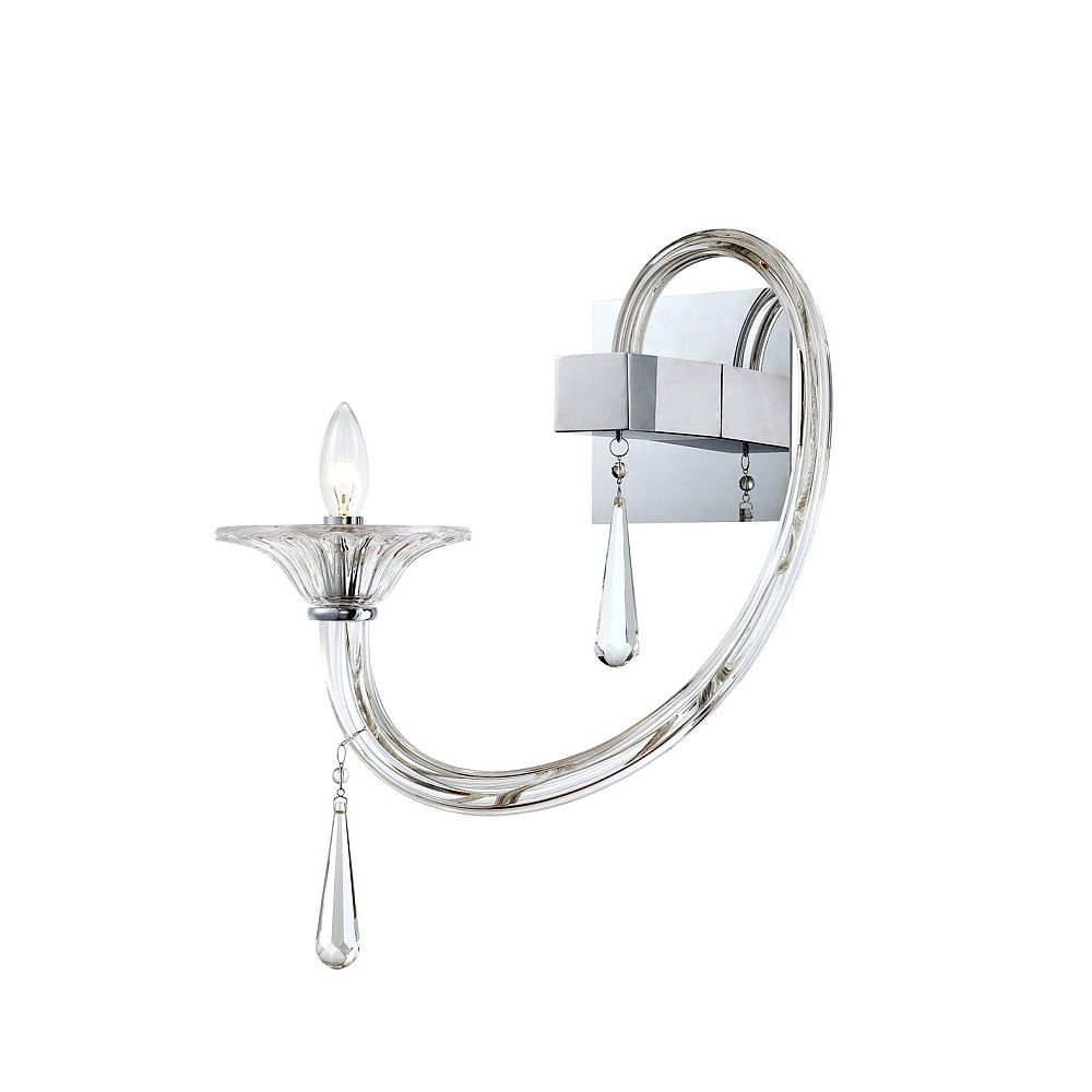 Shiraz Collection 1 Light Chrome Wall Sconce