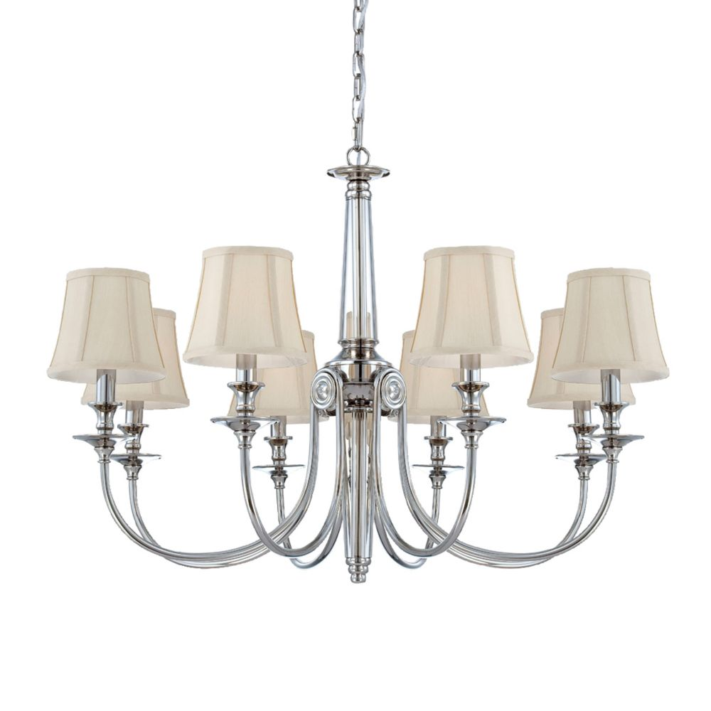 Mona Collection 8 Light Polished Nickel Chandelier