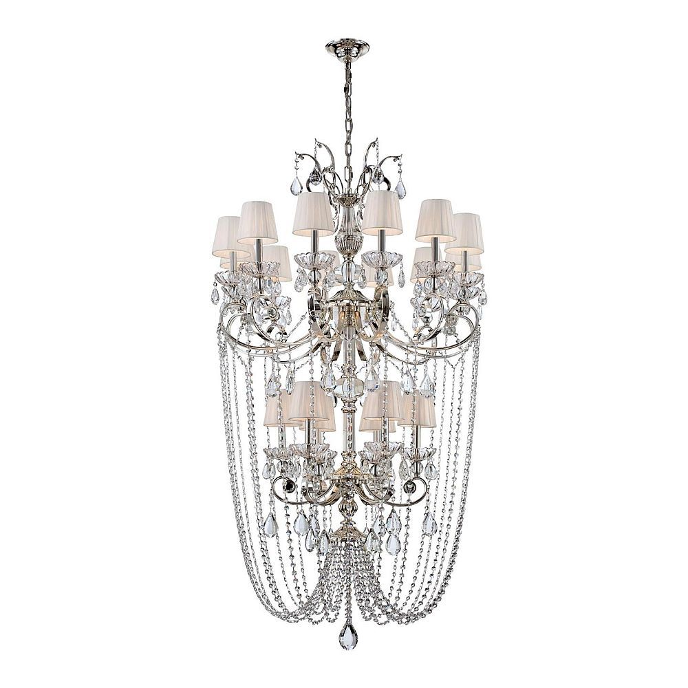 Volante Collection 18 Light Silver Chandelier