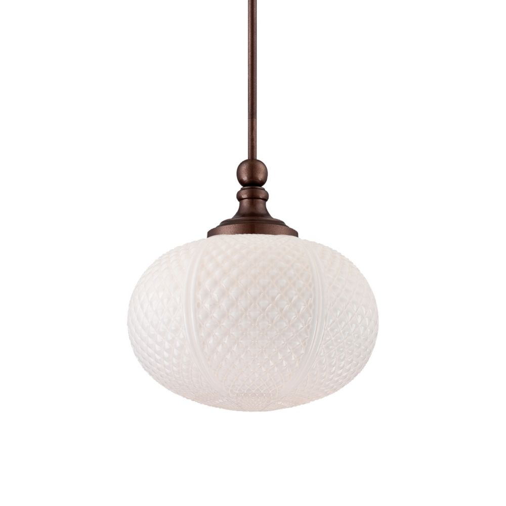 Aspetto Collection 1 Light Oil Rubbed Bronze Pendant