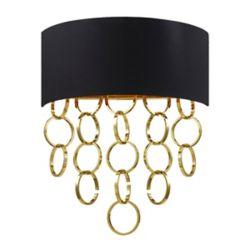 Eurofase Novello Collection 2 Light Gold Wall Sconce