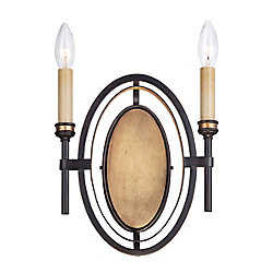 Eurofase Infinity Collection 2 Light Oil Rubbed Bronze Wall Sconce