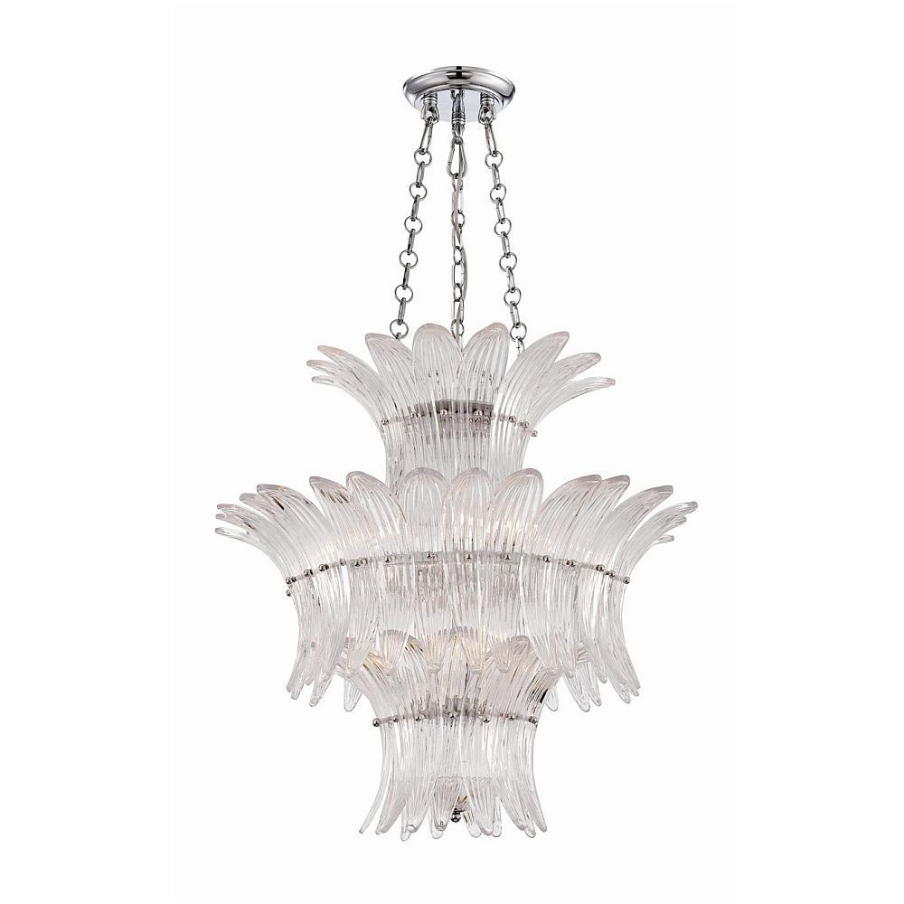 Fiore Collection 7 Light Chrome & Clear Chandelier