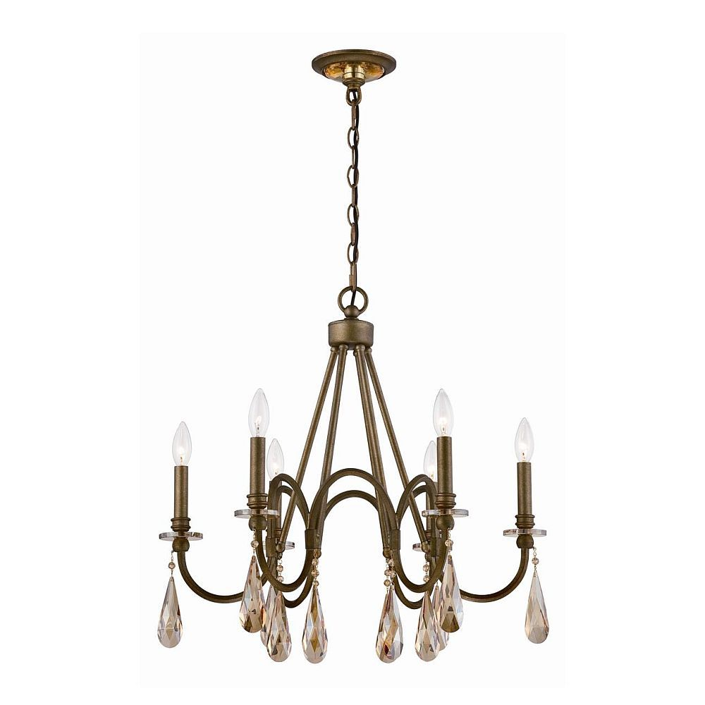 Padova Collection 6 Light Bronze Chandelier