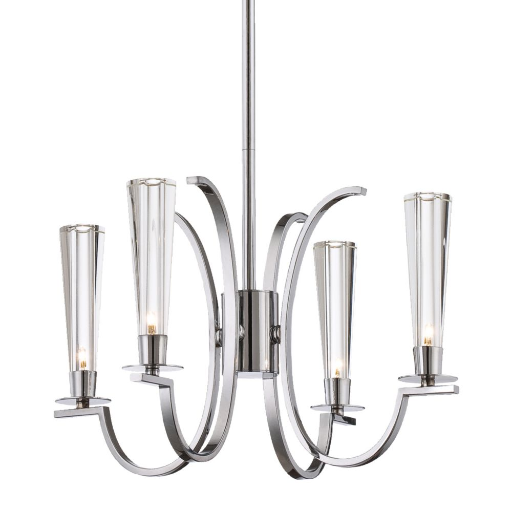 Cromo Collection 4 Light Chrome Chandelier