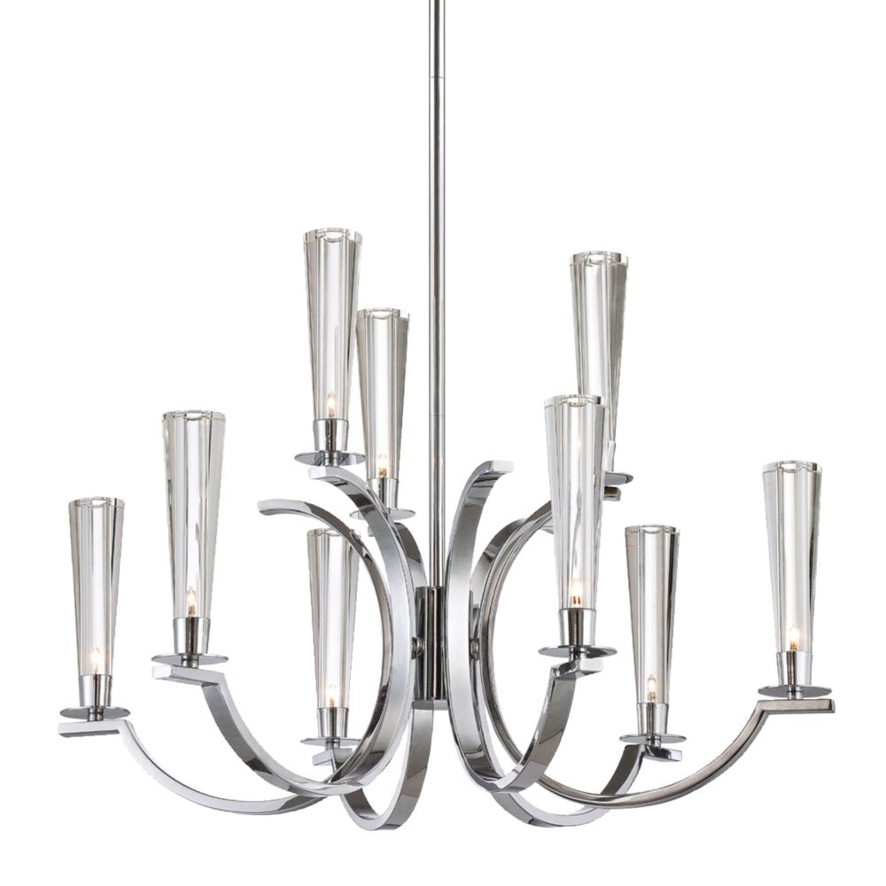 Cromo Collection 9 Light Chrome Chandelier