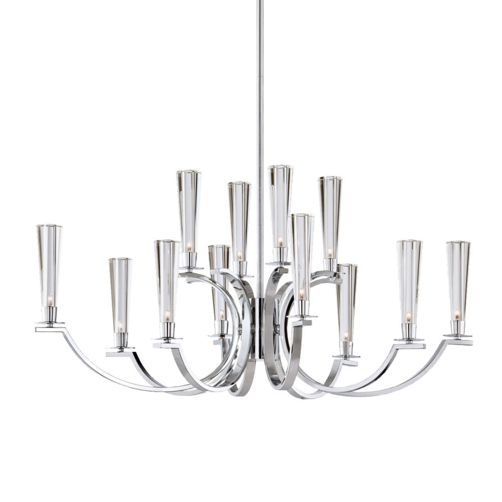 Cromo Collection 12 Light Chrome Oval Chandelier