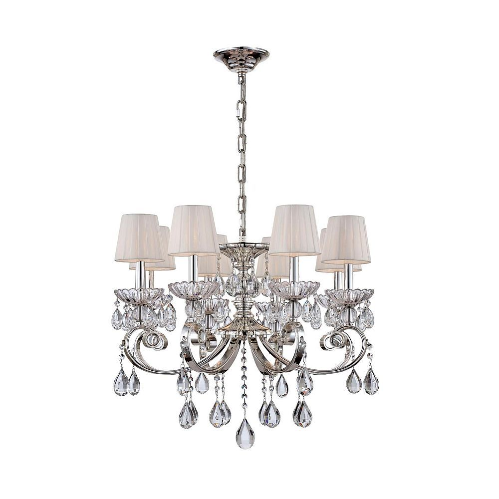 Volante Collection 8 Light Silver Chandelier