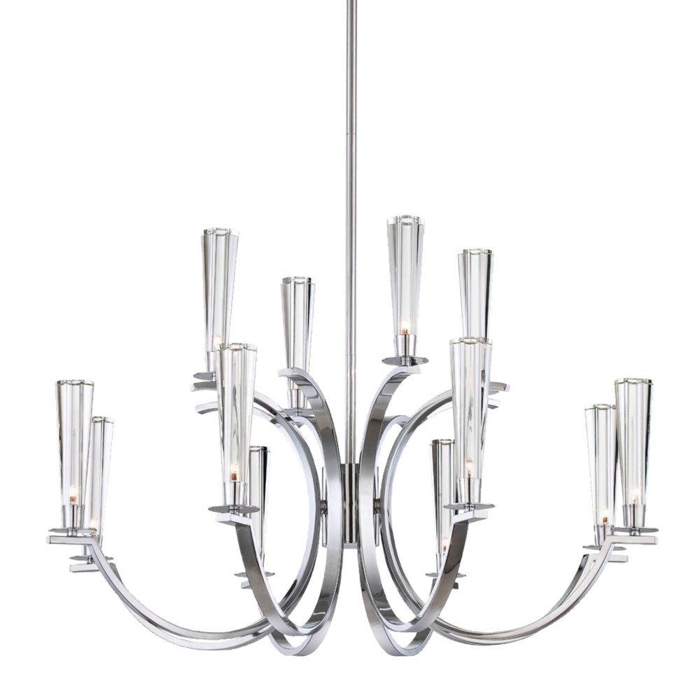 Cromo Collection 12 Light Chrome Chandelier