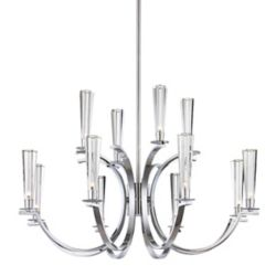 Eurofase Cromo Collection 12 Light Chrome Chandelier