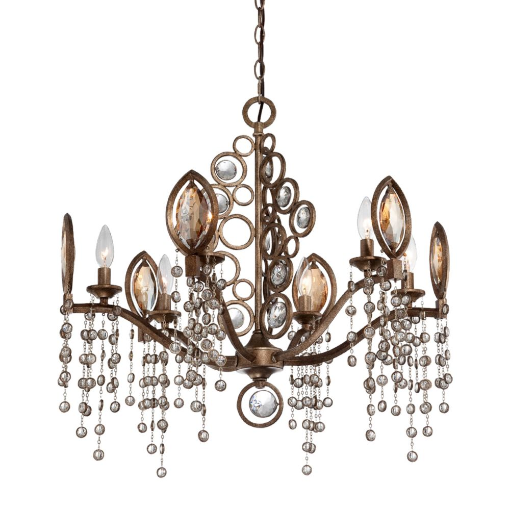 Eurofase Capri Collection 6 Light Bronze Chandelier