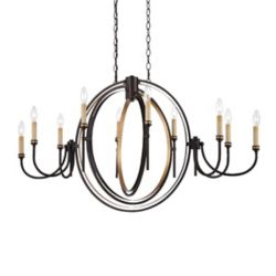 Eurofase Infinity Collection 10 Light Oil Rubbed Bronze Oval Chandelier