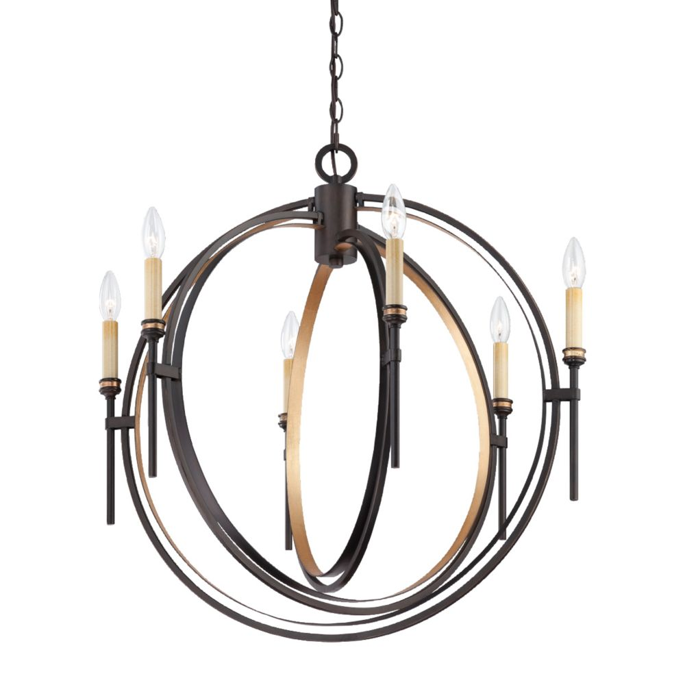 Eurofase Infinity Collection 6 Light Oil Rubbed Bronze Chandelier