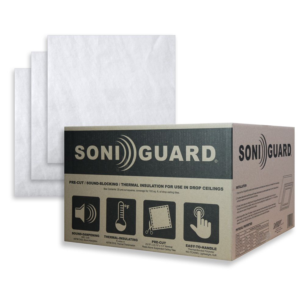 Soniguard 24 Inch x 24 Inch Drop Ceiling Acoustic/Thermal Insulation (Case Of 25) SONIGRD-CASE Canada Discount
