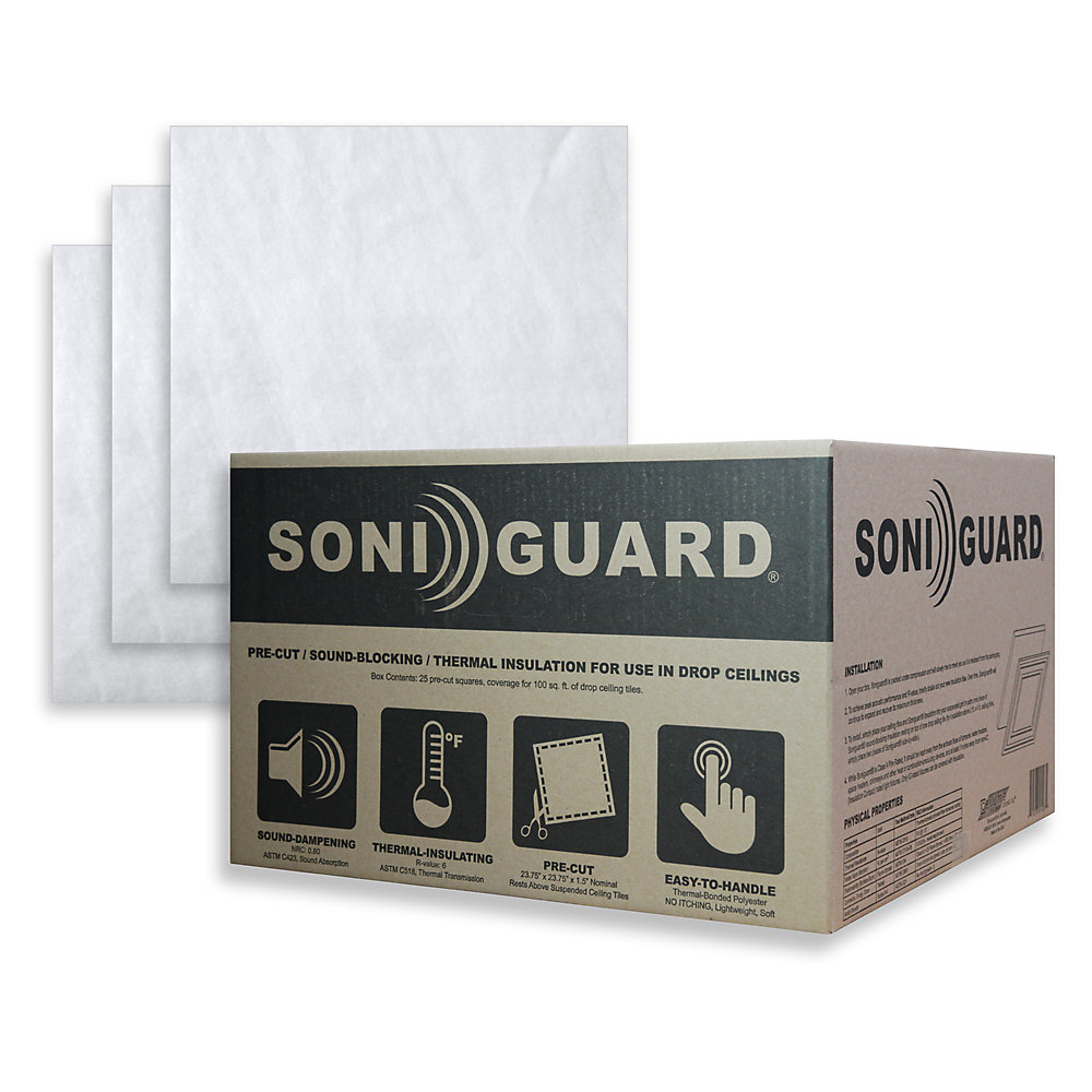 Soniguard 24 Inch X 24 Inch Drop Ceiling Acoustic Thermal