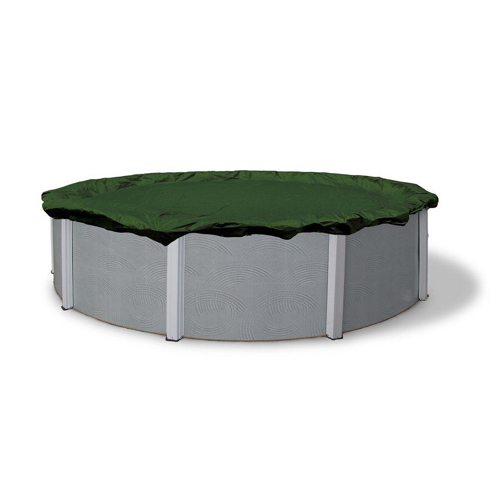 Couverture d'hiver pour piscine hors-terre ovale de 16 pi. (4,9 m) x 25 pi. (7,6 m)