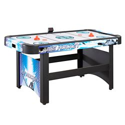 bf9e3eb587c Hathaway Face-Off 5-Foot Air Hockey Game Table for Family Game Rooms with