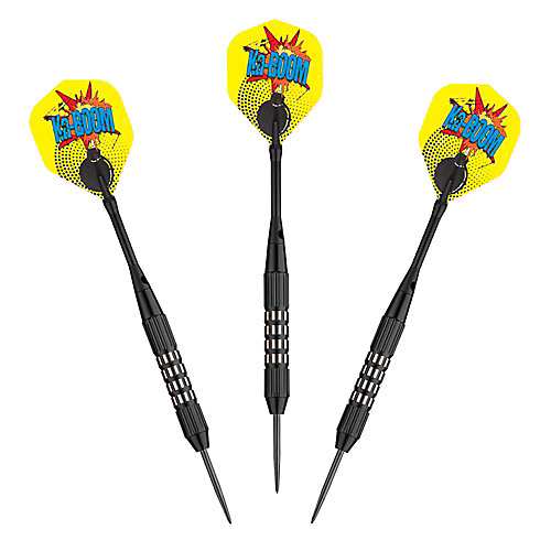 Kaboom Steel Tip Darts - (Set of 3)