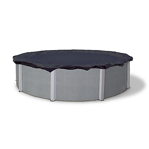 Bâche d'hiver ovale pour piscine hors-terre de 3,7 m x 6,1 m (12 pi x 20 pi), garantie de 8 ans
