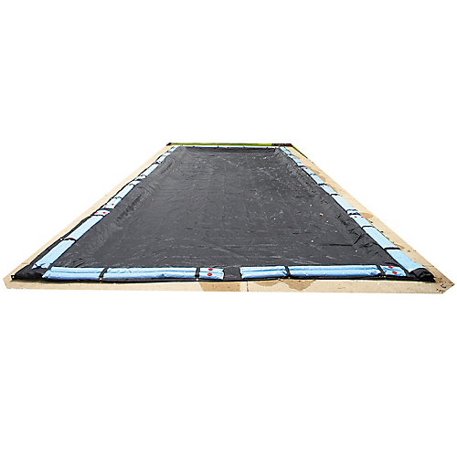 Bâche hivernale rectangulaire en mailles rugueuses pour piscine creusée de 4,9 m x 11 m (16 pi x 36 pi)