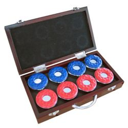 Hathaway Shuffleboard Pucks with Case (8-Pack)