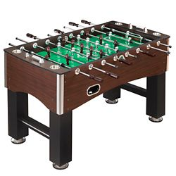 Hathaway Primo 56-Inch Foosball Table, Family Soccer Game with Wood Grain Finish, Analog Scoring and Free Accessories